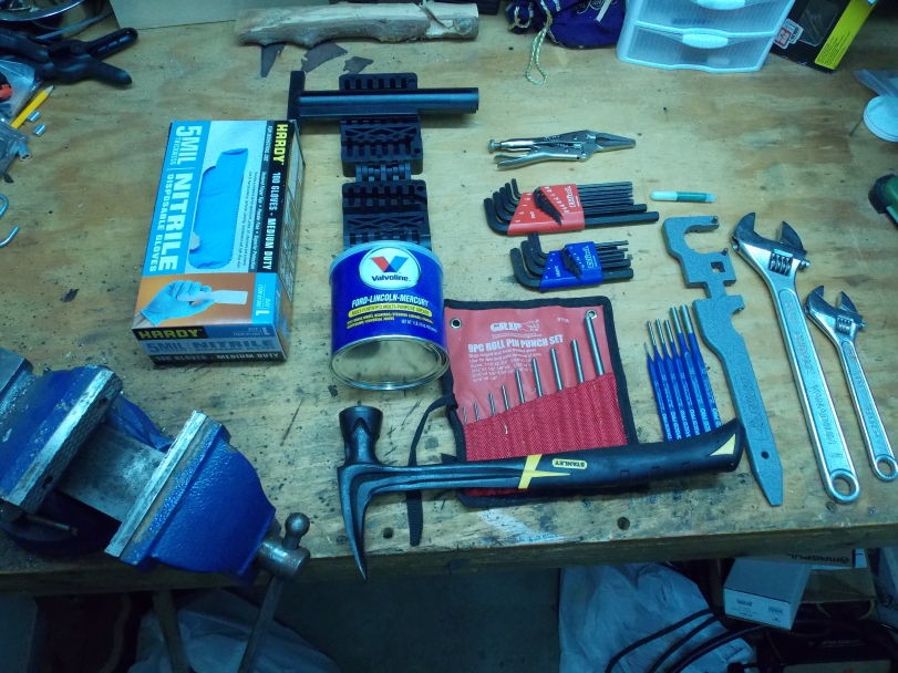 Tools for Assembling AR-15 Upper