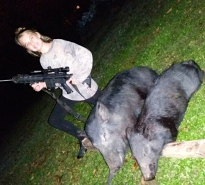 Emma Kate's First Hog