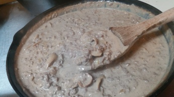 Sauce after adding sour cream